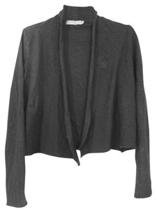 Cut Loose Raw Edges Linen Wrap Cropped Cardigan