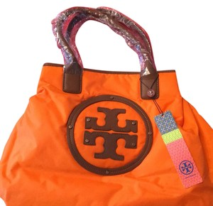 Tory Burch Tote in Orange/Tan