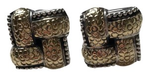 John Hardy Woven gold and silver oversized studs