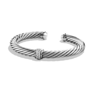 David Yurman David Yurman Cable Classics Bracelet with Diamonds and White Gold, 7mm