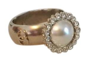 Chanel Pearl Crystal Ring