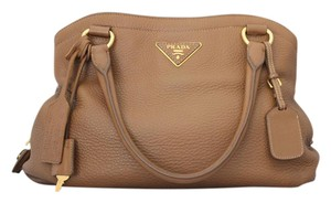 Prada Cervo Deerskin Leather Shoulder Bag
