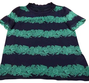 J.Crew Top Green and Navy