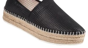 Steve Madden black perforated leather Mules