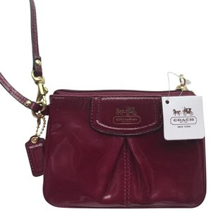 Coach Hailey Sophia Gold Wristlet in Orchid plum pink