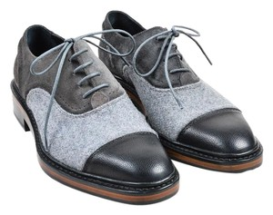Lanvin Oxfords Oxford Loafers Gray and Black Flats