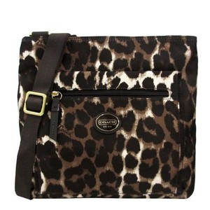 Coach Leopard Park Ocelot Ocelot Cross Body Bag