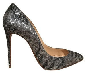 Christian Louboutin Pigalle Follies Glitter Stiletto silver Pumps
