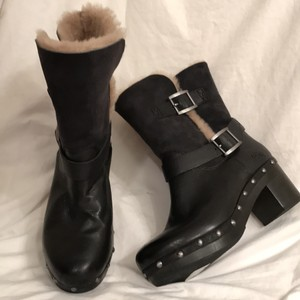 UGG Australia Leather Suede New/nwt Black Boots