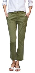 Gap Crop Kick New Capri/Cropped Pants Green