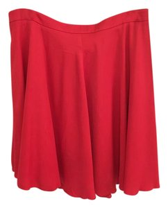 Reiss Skirt Tomato Red
