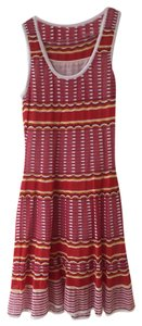 Missoni short dress Red Pink Yellow Colorful on Tradesy