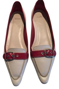 Coach Loafers white red Flats