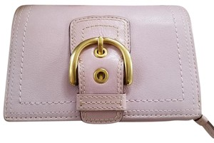 Coach Coach Large Lavender Accordian Wallet
