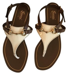 Gucci white/Brown Sandals