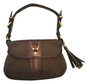 Cole Haan Leather Jacquard Shoulder Bag