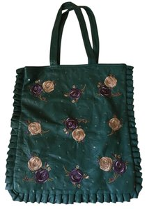 Catherine Malandrino Leather Tote in teal