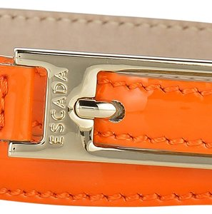 Escada Escada Orange Patent Leather Skinny Belt Size 85 Large