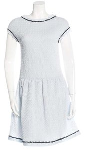 Chanel Sweater Flare Cc Logo Lace Iridescent Dress