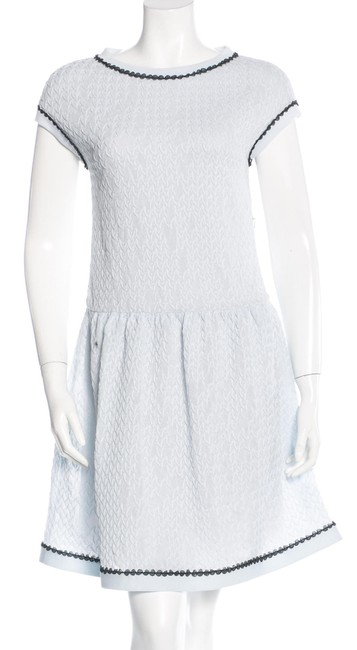 Chanel Sweater Flare Cc Logo Lace Iridescent Dress Image 1