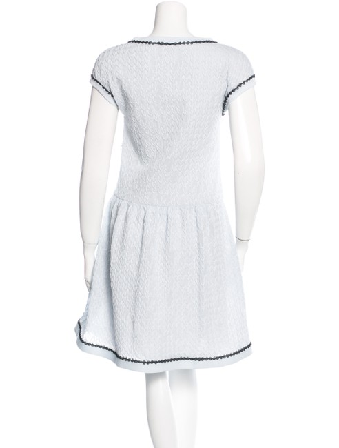 Chanel Sweater Flare Cc Logo Lace Iridescent Dress Image 3