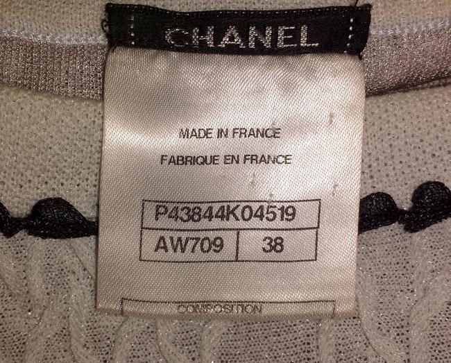 Chanel Sweater Flare Cc Logo Lace Iridescent Dress Image 4