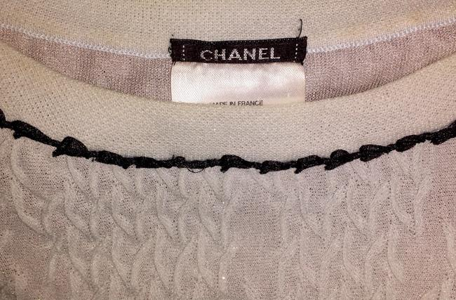 Chanel Sweater Flare Cc Logo Lace Iridescent Dress Image 7