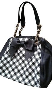 Betsey Johnson Betsy Satchel in Black and White
