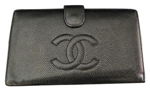 Chanel Chanel Black Caviar Lambskin Long Clasp Wallet