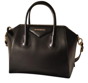 Givenchy Satchel in Black Glazed Duffle Bag