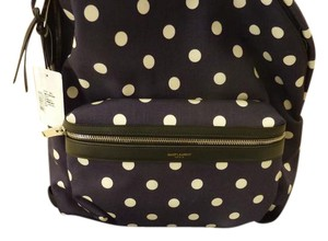 Saint Laurent Polka Dot Italian Leather Backpack