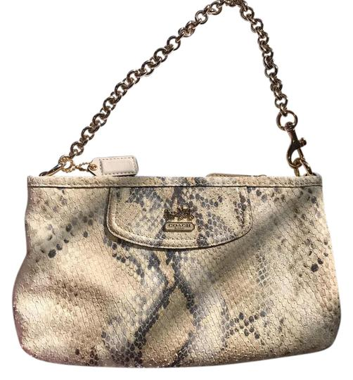 Preload https://img-static.tradesy.com/item/20523475/coach-madison-large-wristlet-cream-ivory-tan-python-leather-clutch-0-7-540-540.jpg