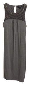 Grey Maxi Dress by Mossimo Supply Co. Embellished Midi Bodycon