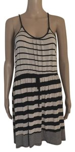 Just Ginger short dress Beige / Black Stripe on Tradesy