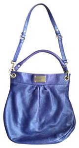 Marc by Marc Jacobs Leather Cross Body Vibrant Eggplant Hobo Bag