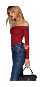 Reformation Top Cherry Red