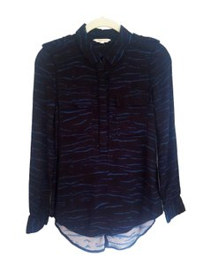 Rebecca Taylor Casual Longsleeve Pattern Top Blue