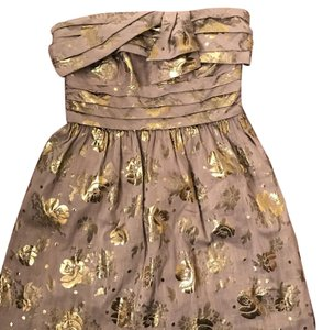 Juicy Couture Like New Party Cocktail Gold Foiled Dress