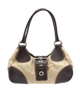 Prada Leather Silver Hardware Satchel Shoulder Bag