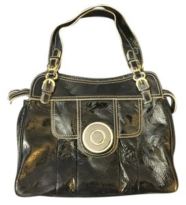 Badgley Mischka Hardware Patent Leather Tote in Black