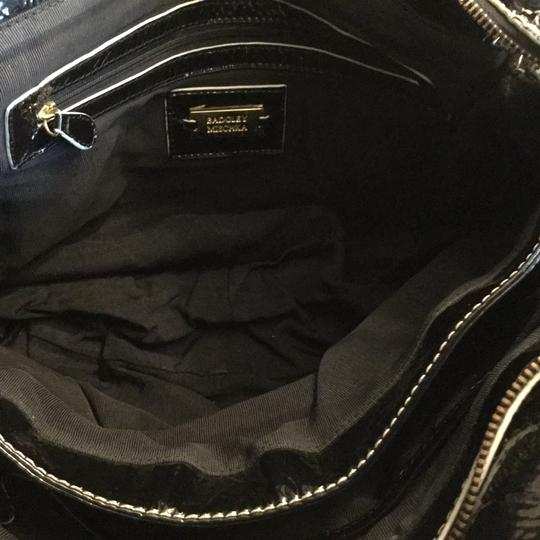 Badgley Mischka Hardware Patent Leather Tote in Black Image 10