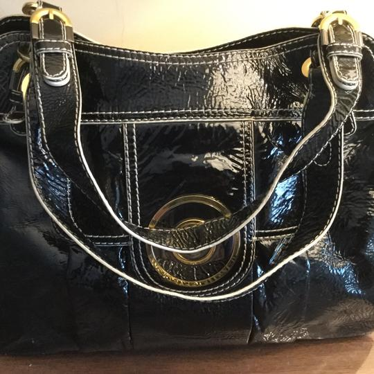 Badgley Mischka Hardware Patent Leather Tote in Black Image 2