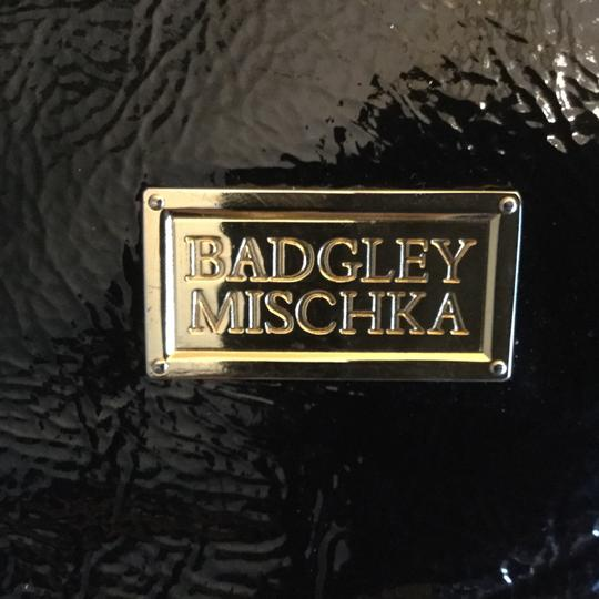 Badgley Mischka Hardware Patent Leather Tote in Black Image 4