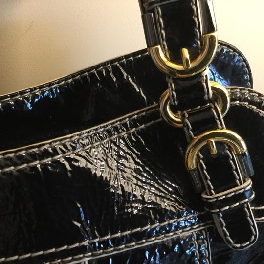 Badgley Mischka Hardware Patent Leather Tote in Black Image 5