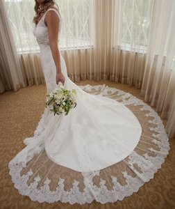Ivory Lace Gown Vintage Wedding Dress Size 2 (XS)