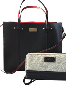 Kate Spade Tote in Ofshr/Geranium ( like dark deep navy blue/red)