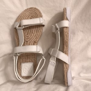 Tory Burch Espadrille Summer Leather White Sandals