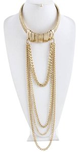 hausofgiovanni Gold Tone Movable Necklace Cascade Choker Set