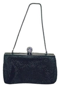 Whiting & Davis Black, Silver Clutch