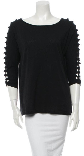 Preload https://img-static.tradesy.com/item/20523750/maje-black-french-designed-34-sleeve-wcut-outs-tee-shirt-size-8-m-0-1-650-650.jpg